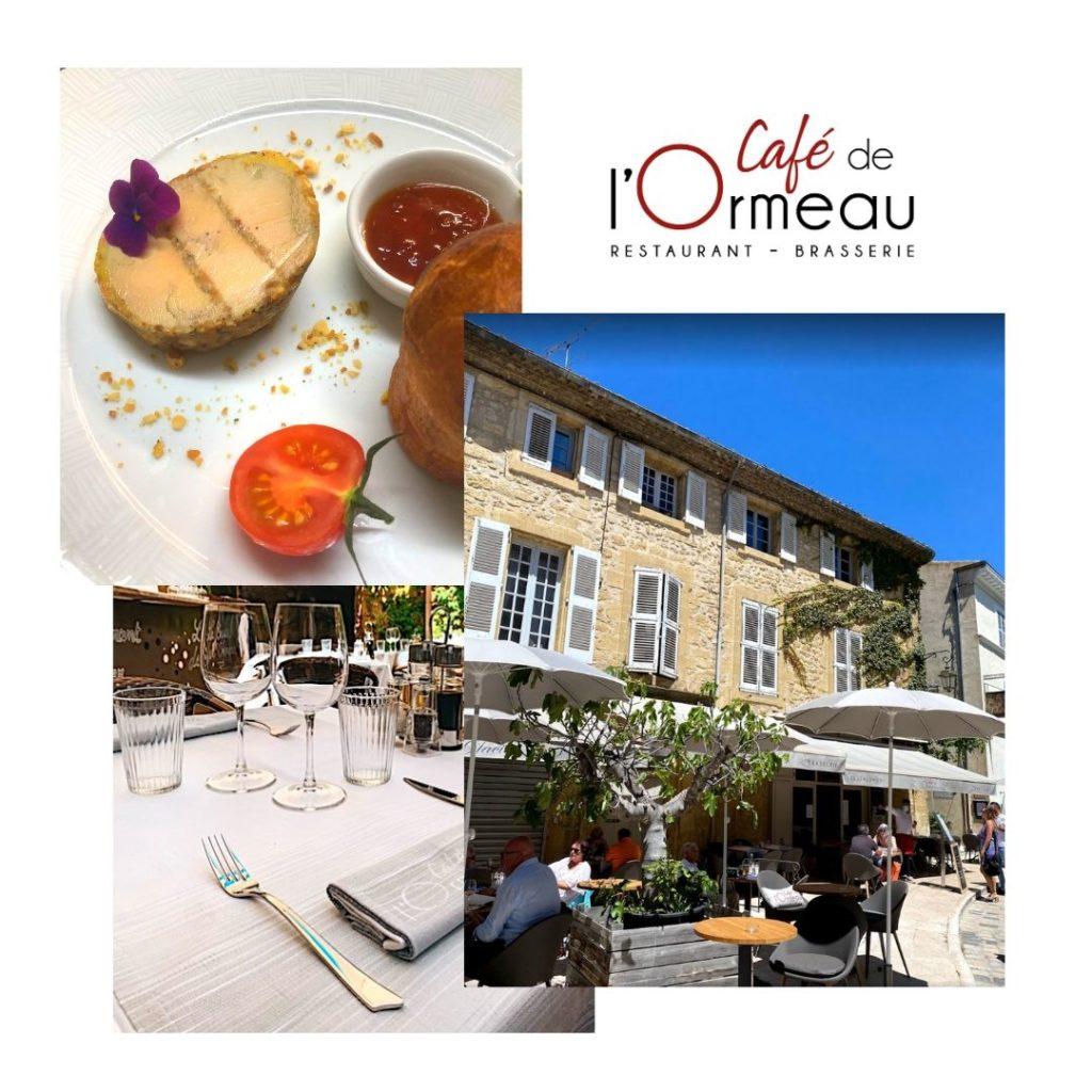 Café de l'Ormeau à Lourmarin