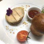 Foie gras de canard mi-cuit au torchon cafe de lormeau2